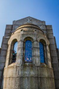 Cappella Monumentale. lato posteriore parte medio-alta