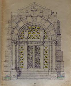 Cappella Monumentale. progetto esterni fronte