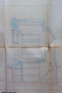 Cappella Monumentale. progetto interni. cripta