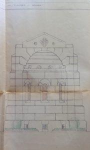 Cappella Monumentale. progetto esterni lato posteriore